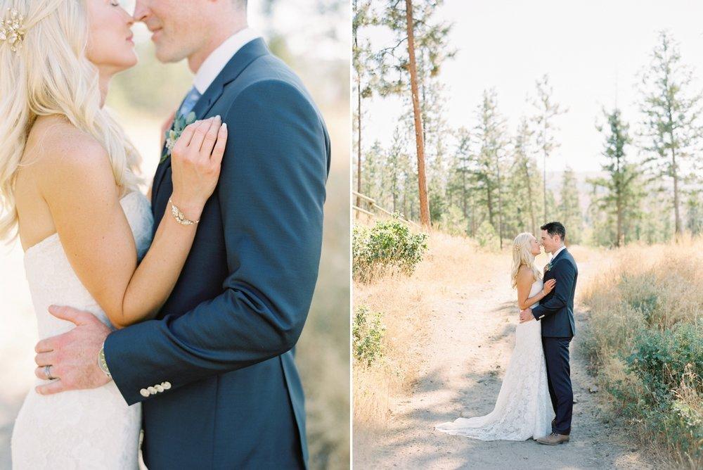 Kelowna wedding photographers | hotel eldorado wedding photographer | justine milton fine art film photography | bride and groom | bride and groom portraits | bride and groom kissing