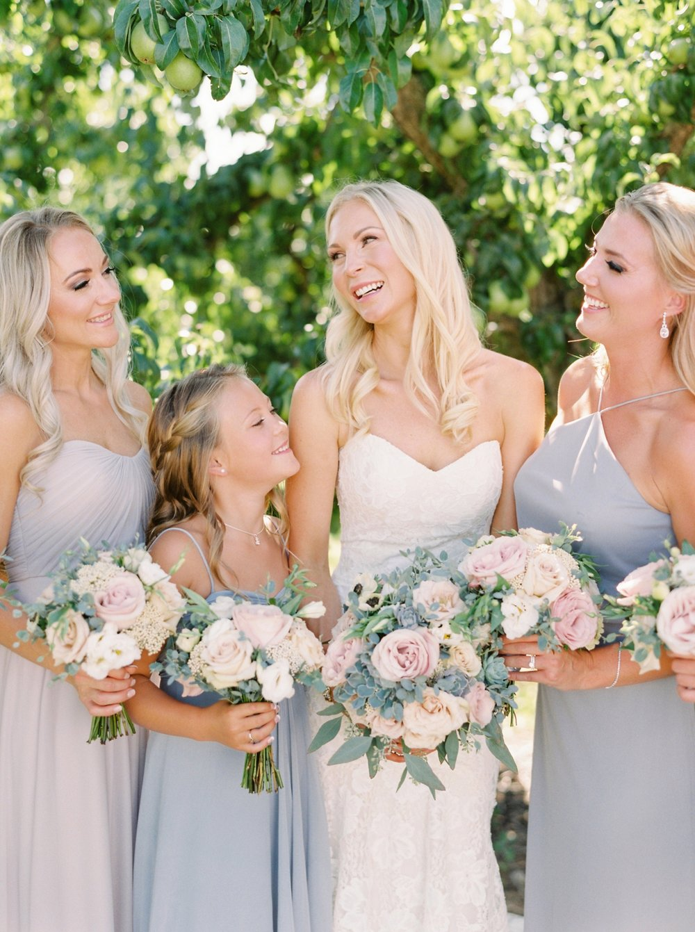 Kelowna wedding photographers | hotel eldorado wedding | okanagan wedding | Justine Milton fine art film Photography | pastel bridal bouquet | blush and blues