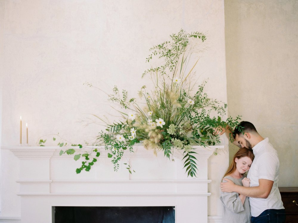 Charleston wedding photographer | anniversary session | fine art film photography | Calgary Wedding Photographers | Calgary couples photographer | Justine Milton Photography | couple | flowers