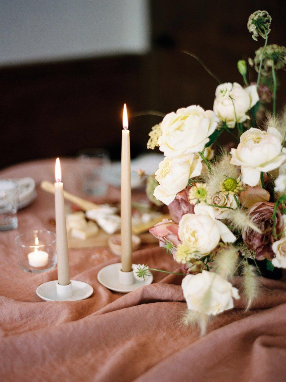 Charleston wedding photographer | anniversary dinner | fine art film photography | Calgary Wedding Photographers | Calgary couples photographer | Justine Milton Photography | decor | table setting