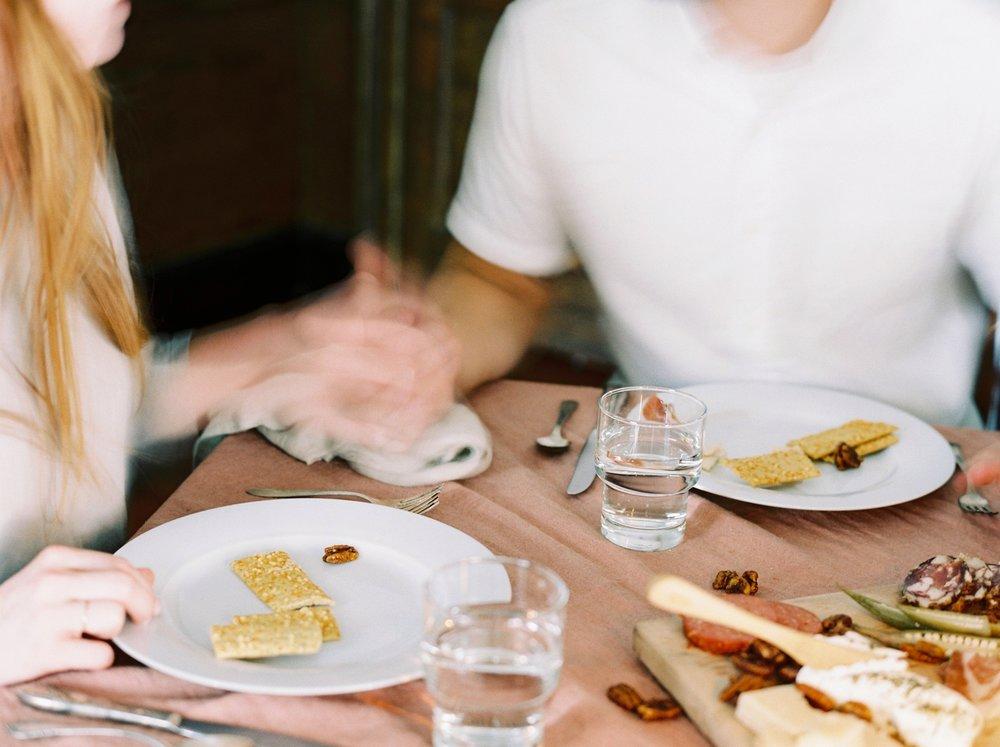 Charleston wedding photographer | anniversary dinner | fine art film photography | Calgary Wedding Photographers | Calgary couples photographer | Justine Milton Photography | decor | table settings