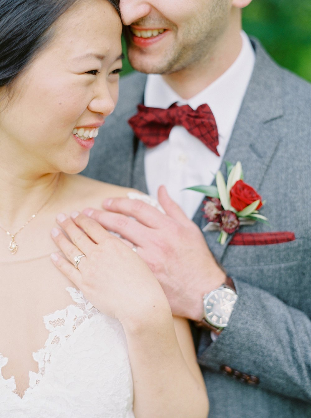 Calgary wedding photographer | fine art film photography | Calgary Wedding Photographers | Calgary couples photographer | Justine Milton Photography | bowtie | couples portrait