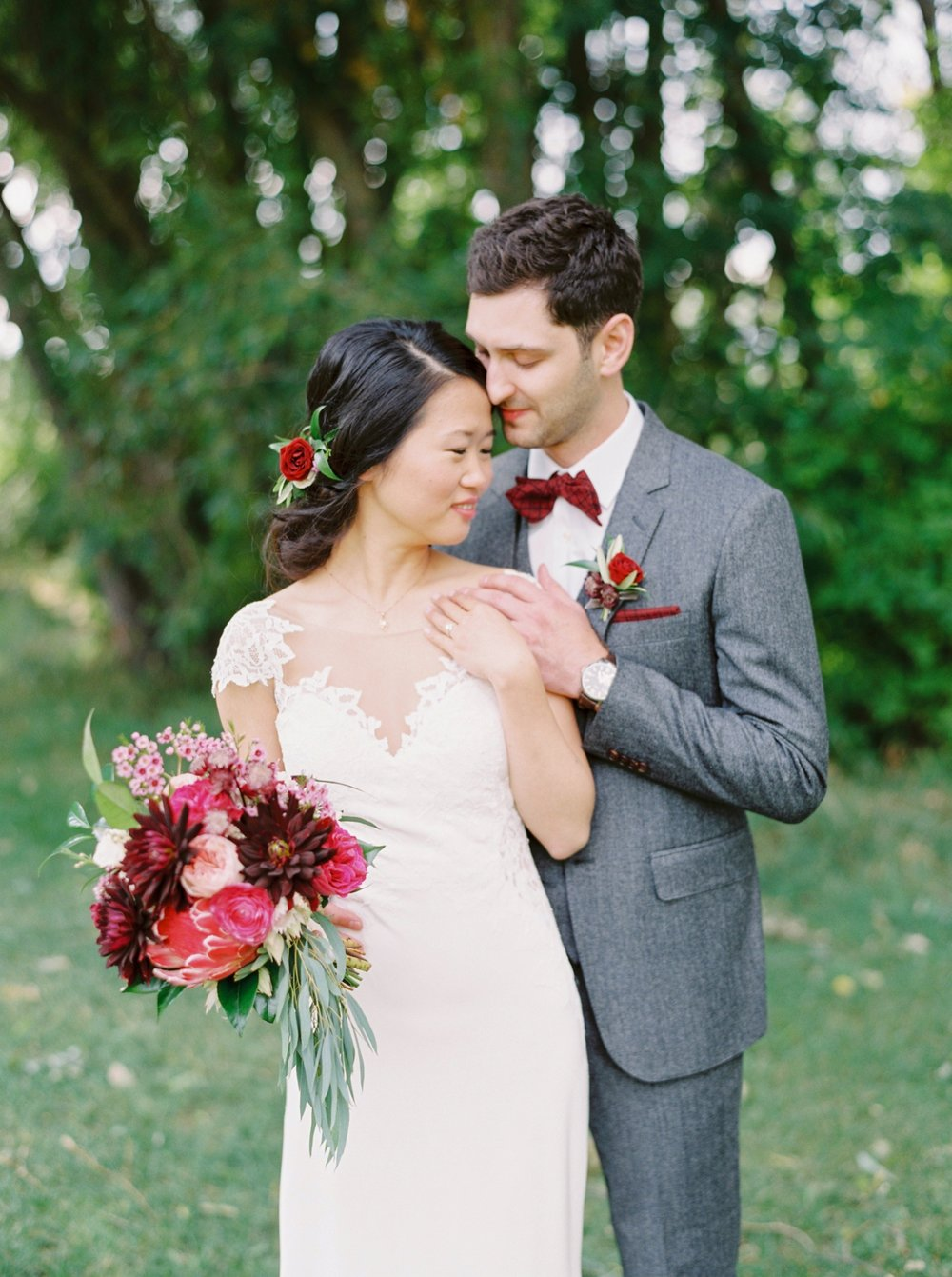 Calgary wedding photographer | fine art film photography | Calgary Wedding Photographers | Calgary couples photographer | Justine Milton Photography | bouquet | couples portrait
