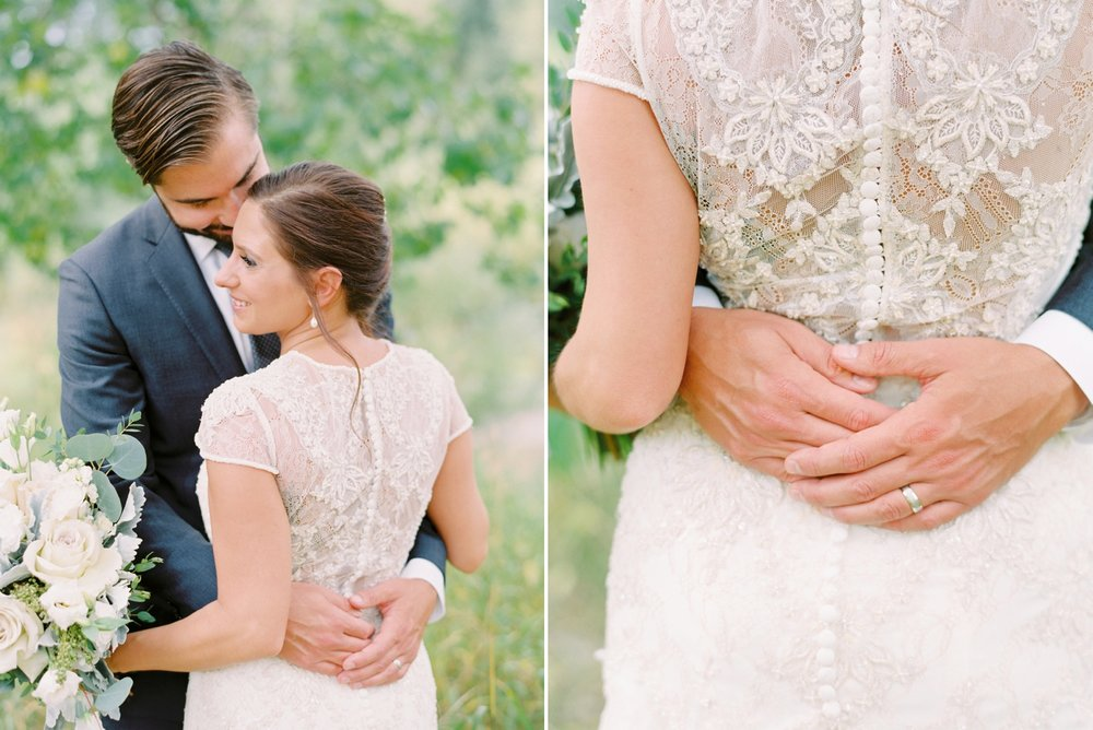 Calgary wedding photographers | fine art film | Justine Milton Photography | wedding inspiration | wedding dress | bride and groom portraits | bouquet