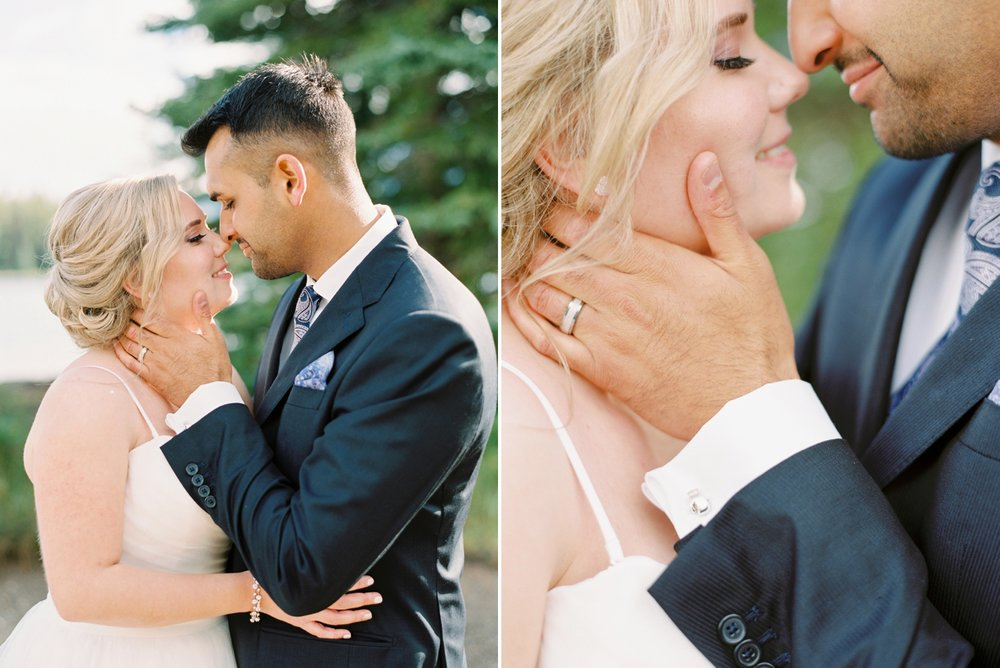 Calgary wedding photographers | banff wedding photographers | fine art film | Justine Milton Photography | wedding vows | elopement photographers | bride and groom portraits