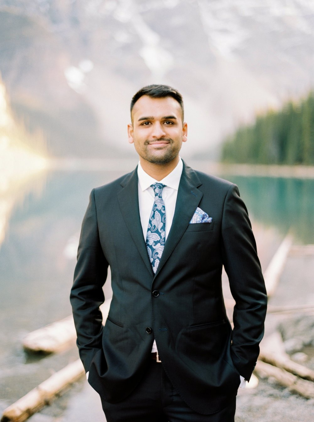 Calgary wedding photographers | banff wedding photographers | fine art film | Justine Milton Photography | wedding vows | elopement photographers | groom portraits | moraine lake