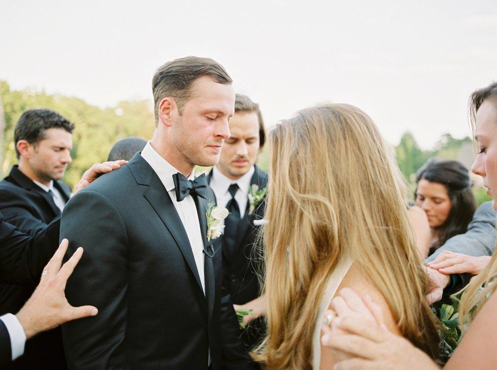 Calgary wedding photographers | georgia wedding photographers | fine art film | Justine Milton Photography | georgia wedding | wedding ceremony | wedding vows | wedding prayer