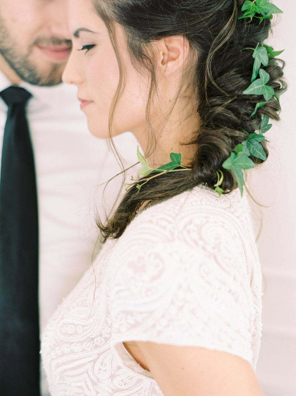 Calgary wedding photographers | fine art film | Justine Milton Photography | wedding details | editorial | wedding inspiration | bride and groom | bridal hair