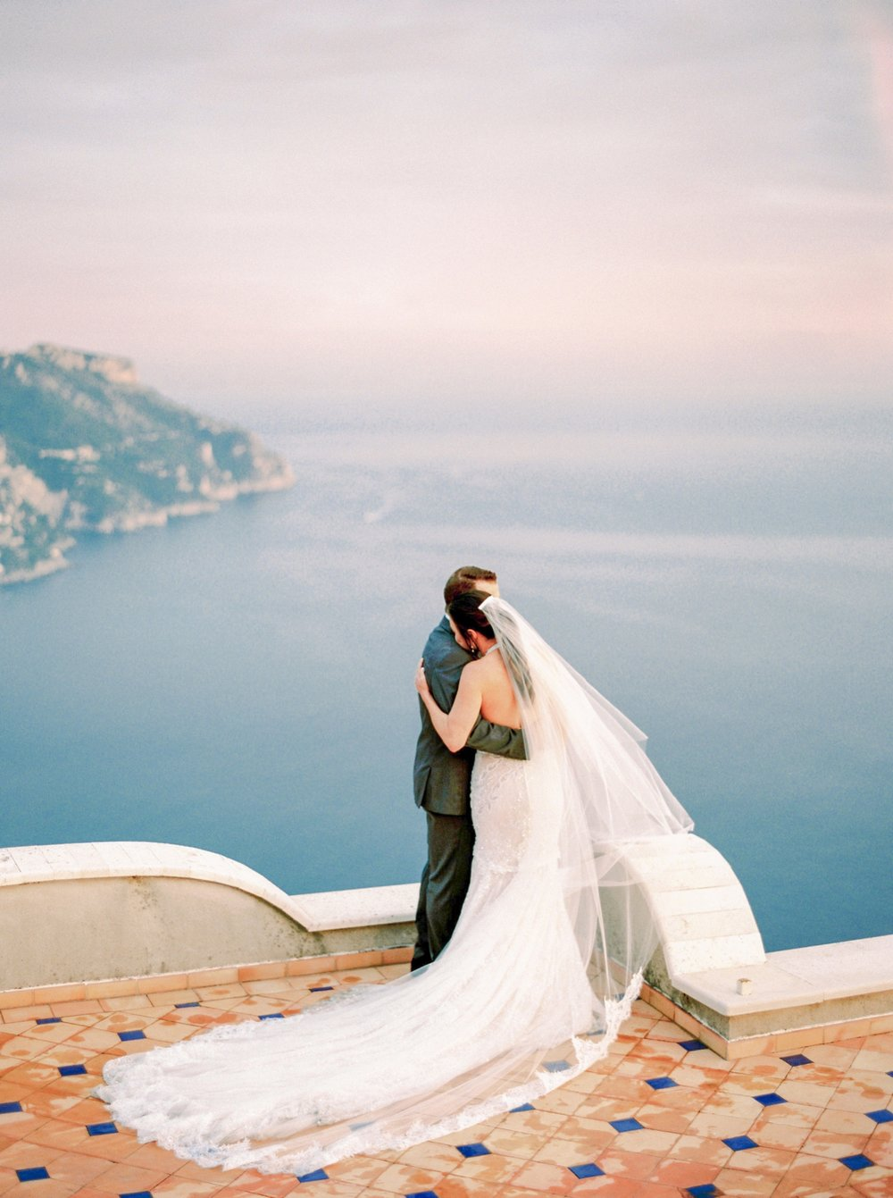 Ravello Italy Amafli Coast destination wedding photographers | english speaking wedding photographer in Italy | Justine Milton Photography | bride and groom portraits