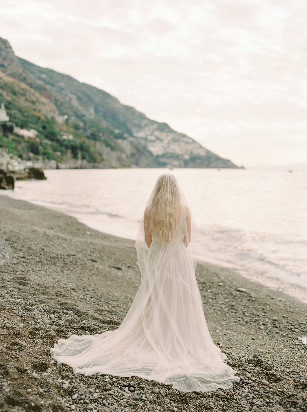 Positano Bridal Session | Amalfi Coast Wedding Photographers | Samuelle Couture Wedding Dress | Justine Milton Photography