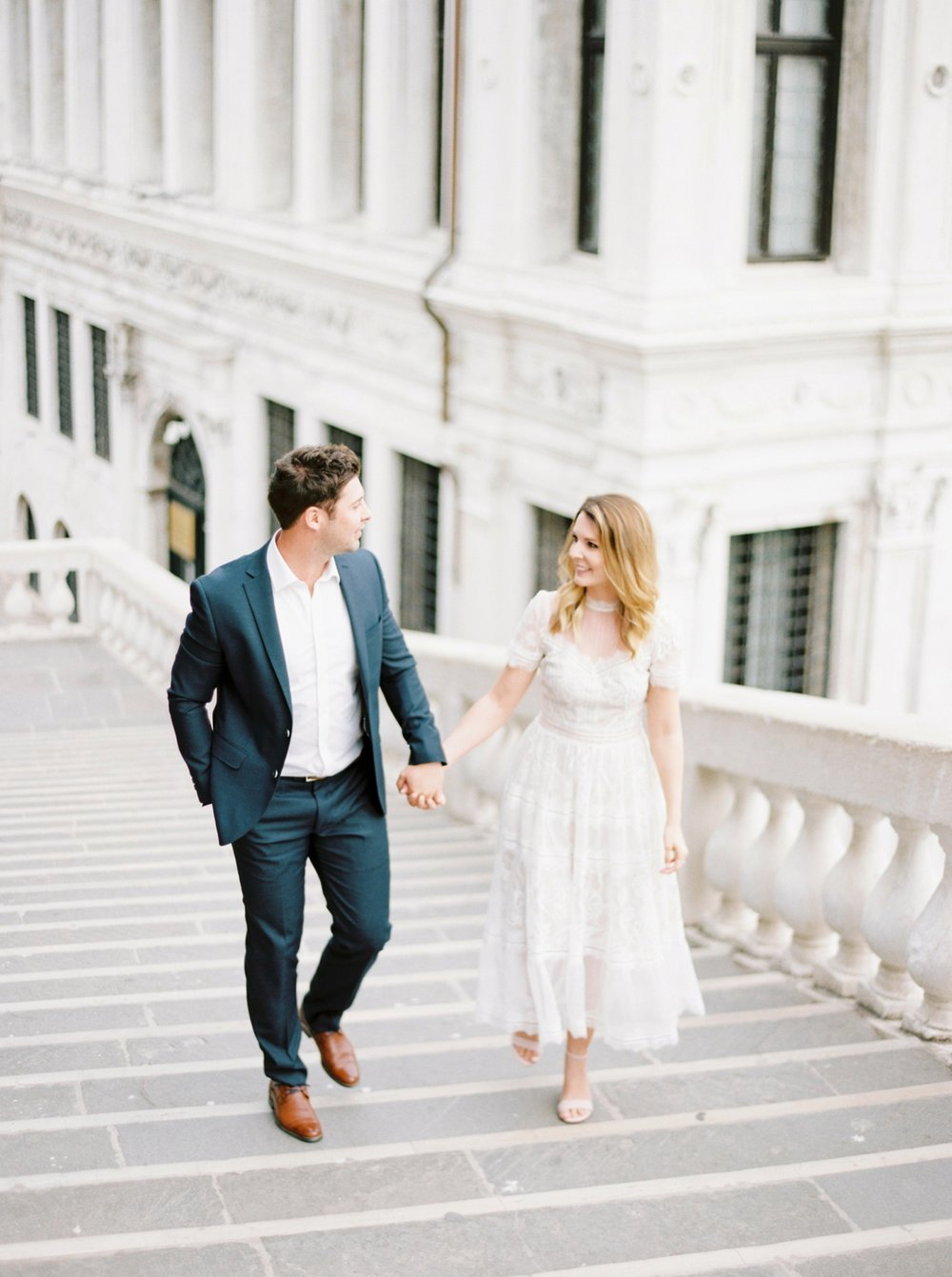 Venice couples anniversary session | pre wedding photos around the venice canals | fine art film photographer Justine Milton