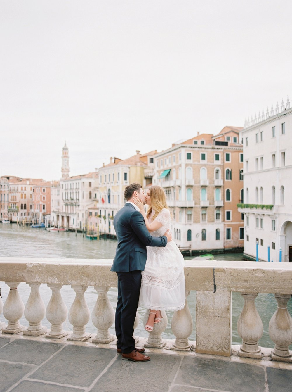 Venice couples anniversary session | pre wedding photos around the venice canals | fine art film photographer Justine Milton