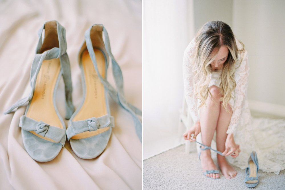 Calgary wedding photographers | The Gathered Farm Wedding | Justine milton fine art film photographer | bride wedding shoes getting ready details