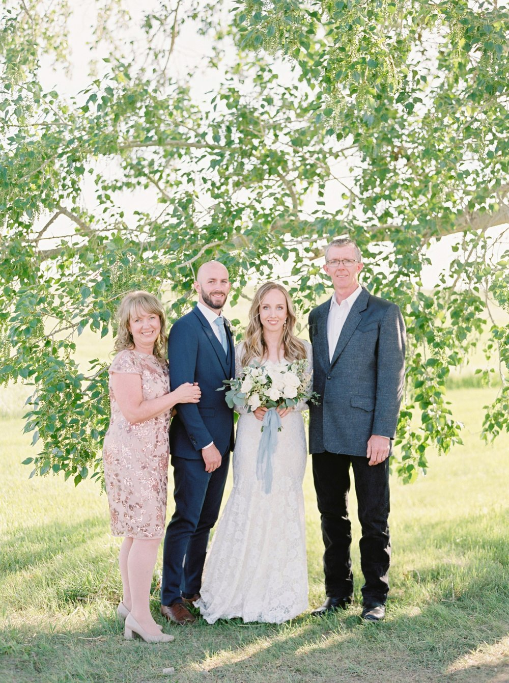 Calgary wedding photographers | The Gathered Farm Wedding | Justine milton fine art film photographer | family portaits
