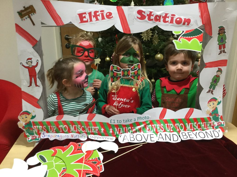 National Elf Service Day - Our cheeky little Elves helped to raise £221.70 towards the Above and Beyond charity.