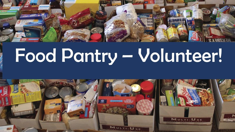 Greater Woodbury Cooperative Ministries Food Pantry could use your help.  Please consider helping in the following areas:  Client intake and interviewing  Sorting, stocking, shopping  Picking up donated food  Please call Kemble Church office to volunteer