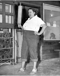 Juanita Musson cut a formidable figure in her heyday. Photocourtesy of Sausalito Historical Society