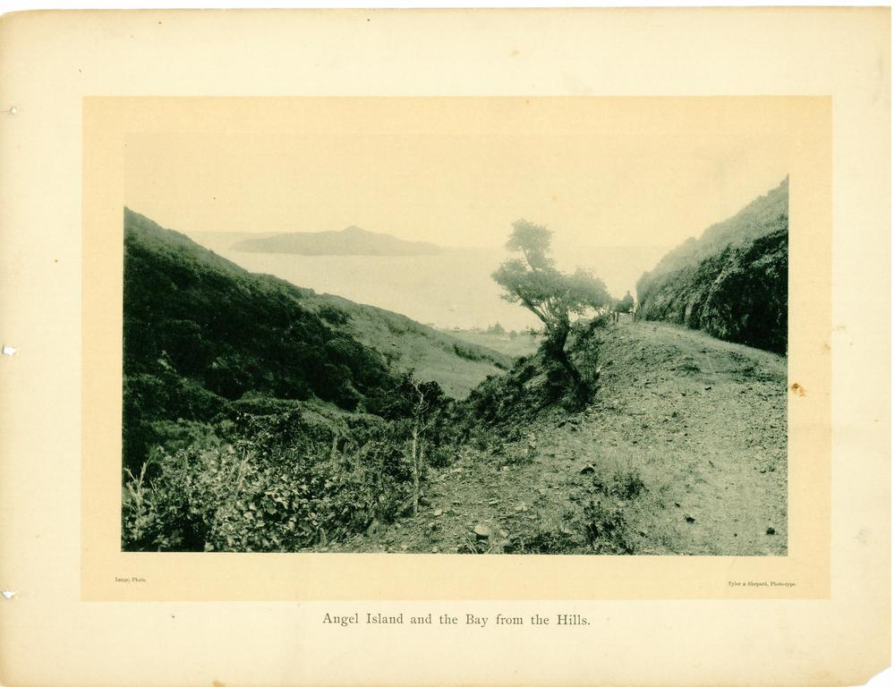 Sausalito Boulevard high above Old Town c1890. Courtesy Sausalito Historical Society.