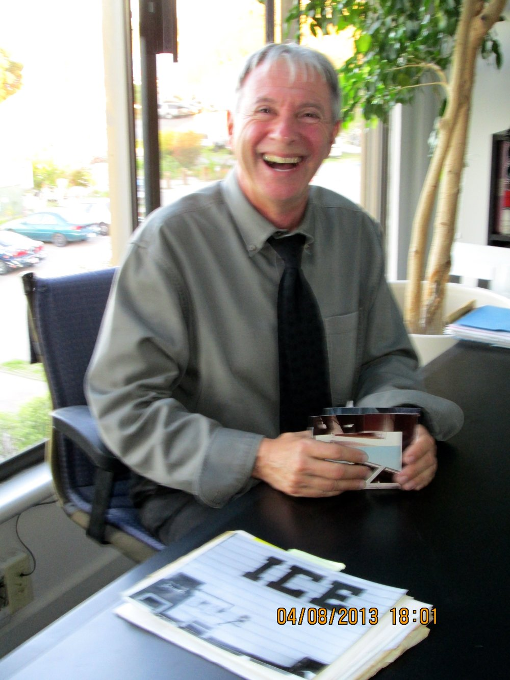 Architect Michael Rex in his office today. Photo by Steefenie Wicks