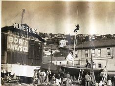 #24 Frolic's Launch in 1943 at the Nunes Brothers Boat & Ways Company.