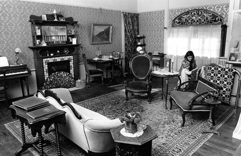 What began as a re-created Victorian room now houses the SHS Exhibition Roomat City Hall. Photo courtesy of Sausalito Historical Society