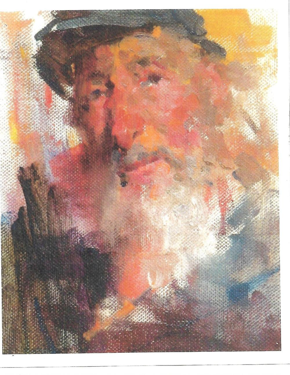 Portrait of Larry Moyer by an unknown artist Courtesy of Bill Kirsch