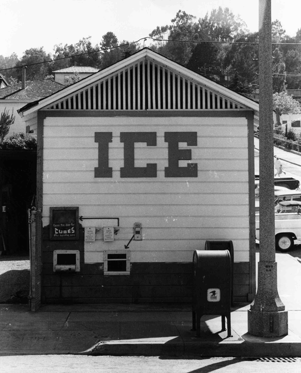 The Ice House was a coin-operated vending facility for many years.