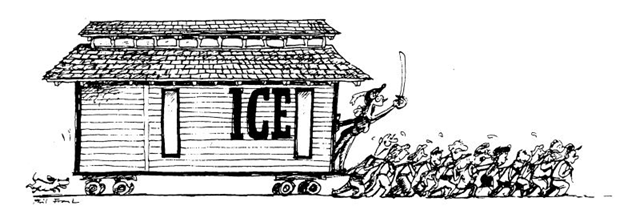 Phil Frank drew this cartoon for a fund-raising campaign to move the Ice House downtown.