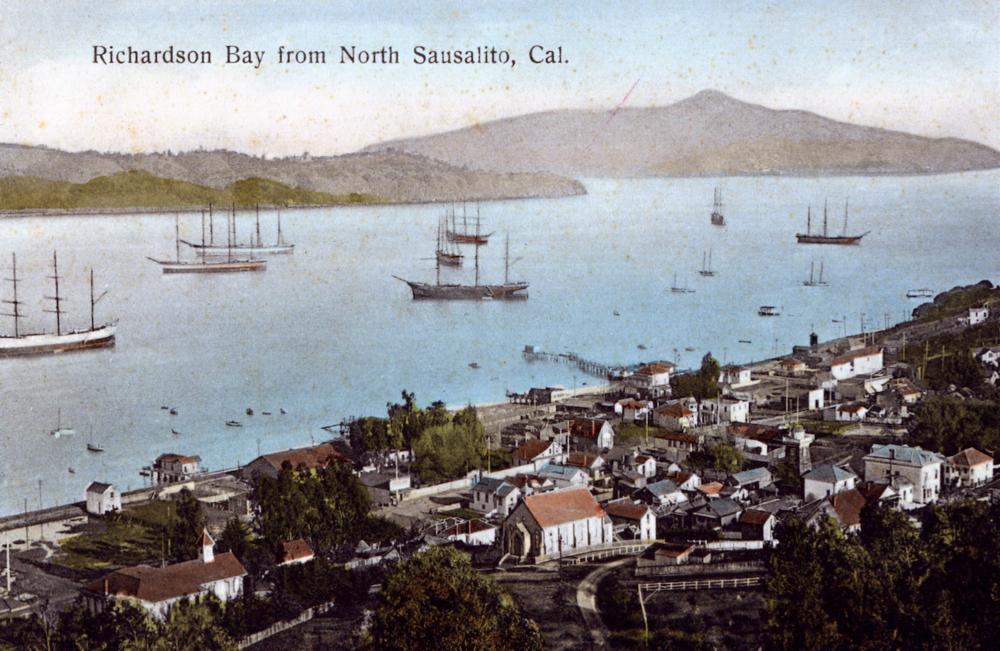 1909 Sausalito, Richardson's Bay and Angel Island - SHS Collection