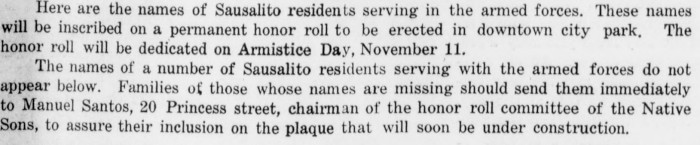 Sausalito News September 1943
