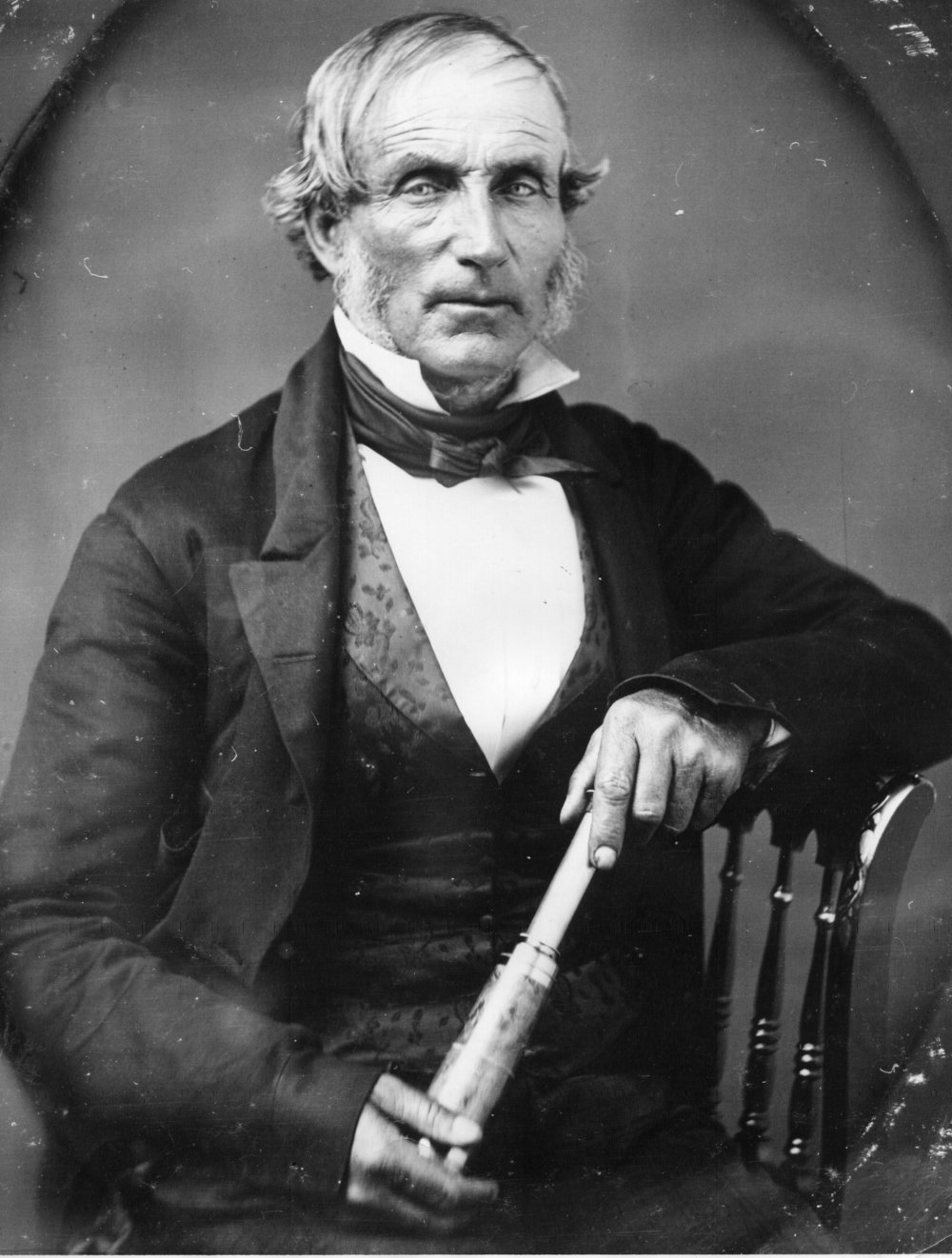 The only known photo of William Richardson, founder of Sausalito, was taken c. 1854. Courtesy of Sausalito Historical Society