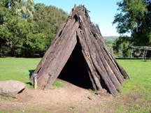 Miwoks lived in houses like this recreation at the Bear Valley Visitor Center in Point Reyes National Seashore.