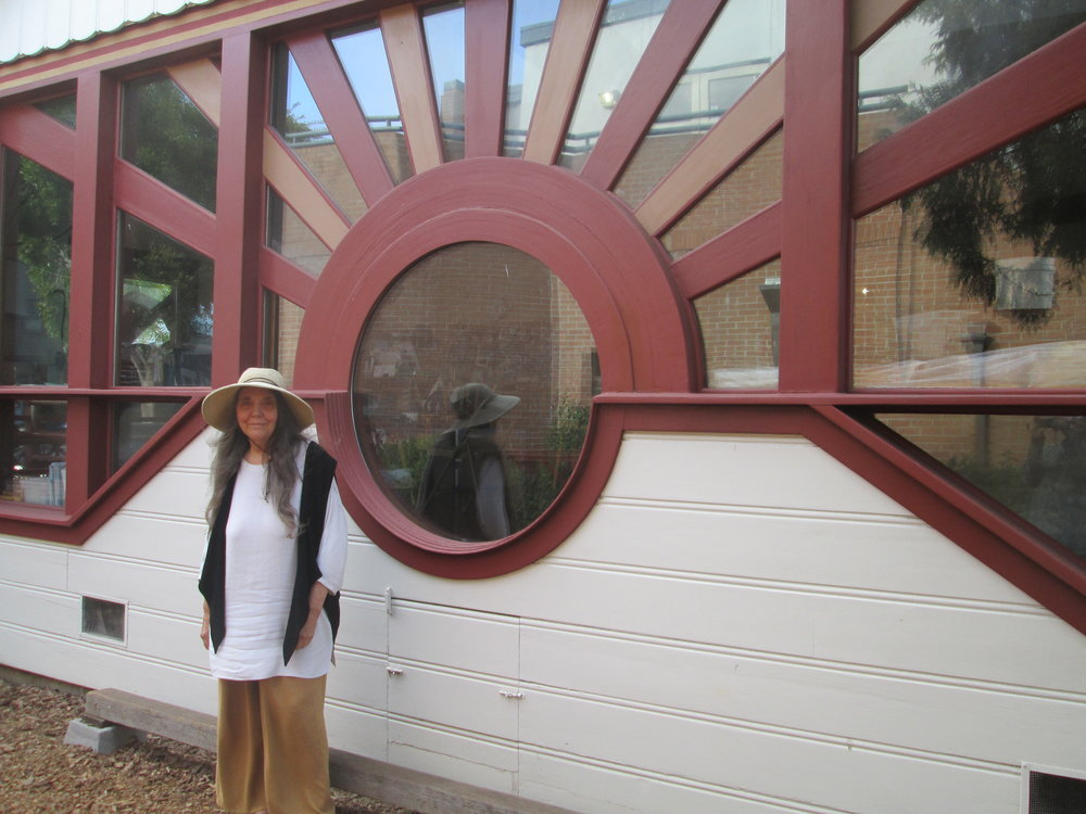Judith Bang-Kolb outside the Sparrow Creek School Photo by Steefenie Wicks
