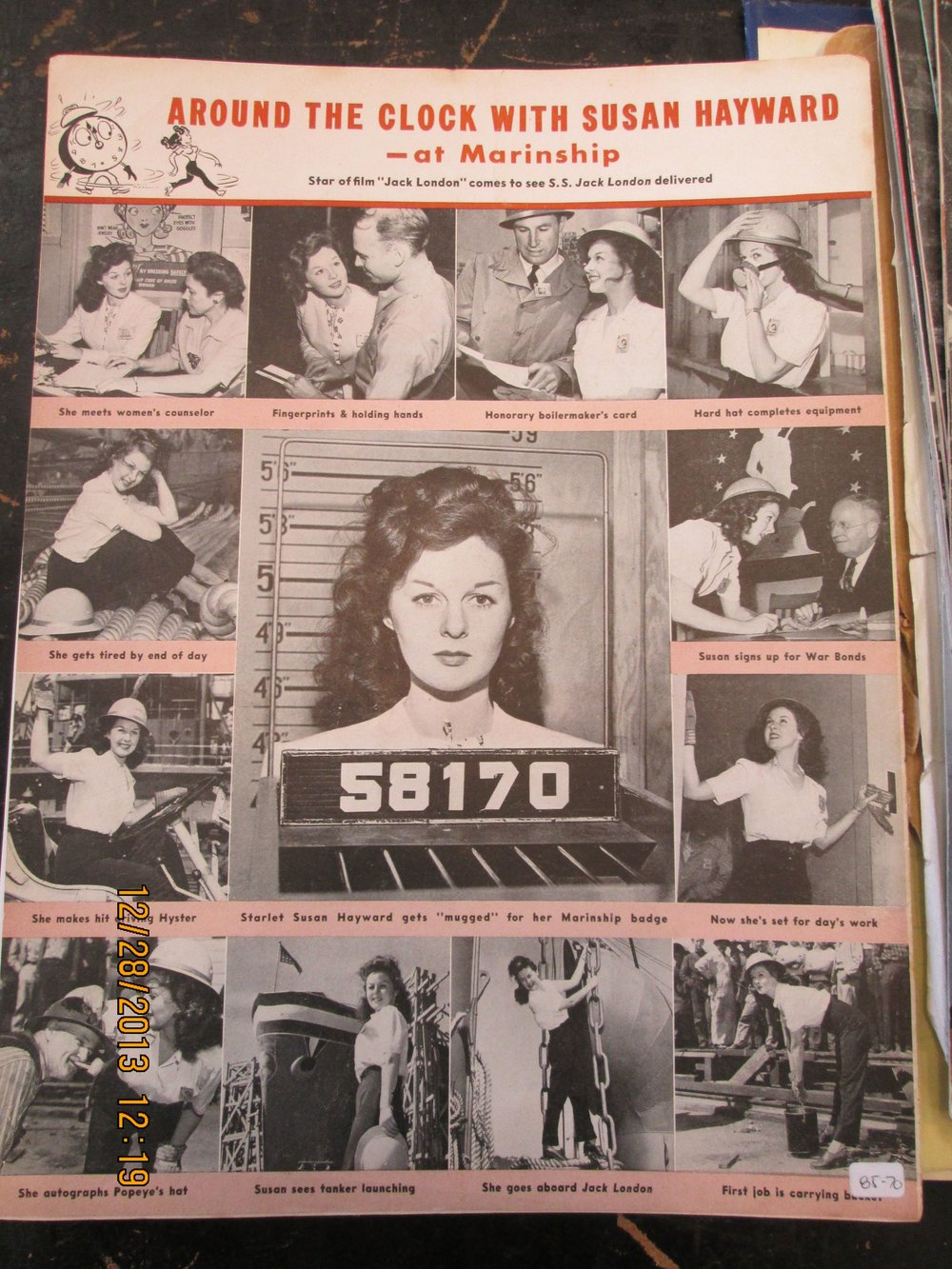 Many celebrities visited Marinship, as shown in this photo spread from the yard's in-house publication, The Marin-er.  Photo courtesy of Sausalito Historical Society