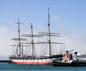The Balclutha moored at the Hyde Street Pier Courtesy Photo
