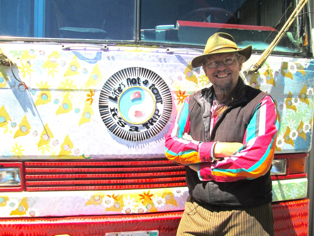 Chris Hardman and his Magic Bus          Photo by Steefenie Wicks