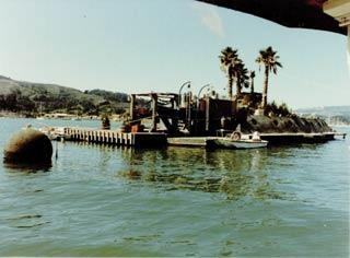 Forbes Island in Richardson's Bay in 1987. Photo courtesy of the Sausalito Historical Society