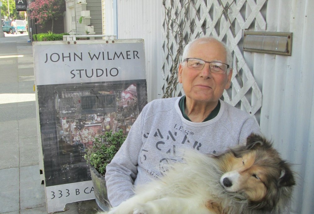 John Wilmer and his dog Cali       Photo by Steefenie Wicks