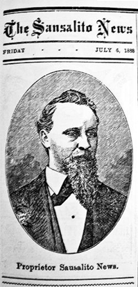 Portrait of J.E. Slinkey from the Sausalito News