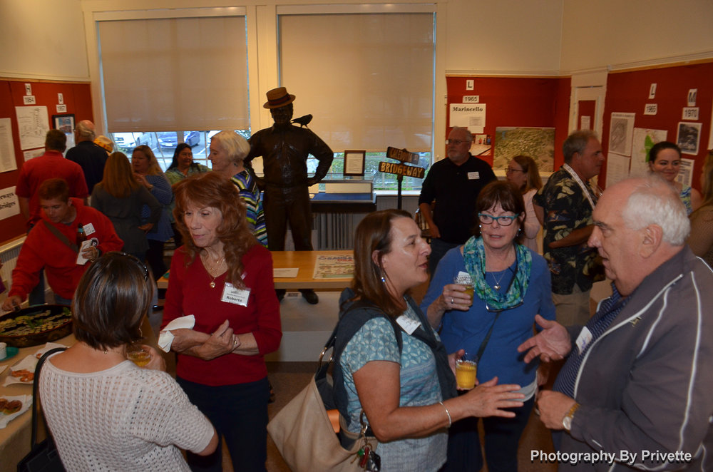 A Chamber of Commerce mixer marked the opening of the new exhibit.  Photo by Herman Privette