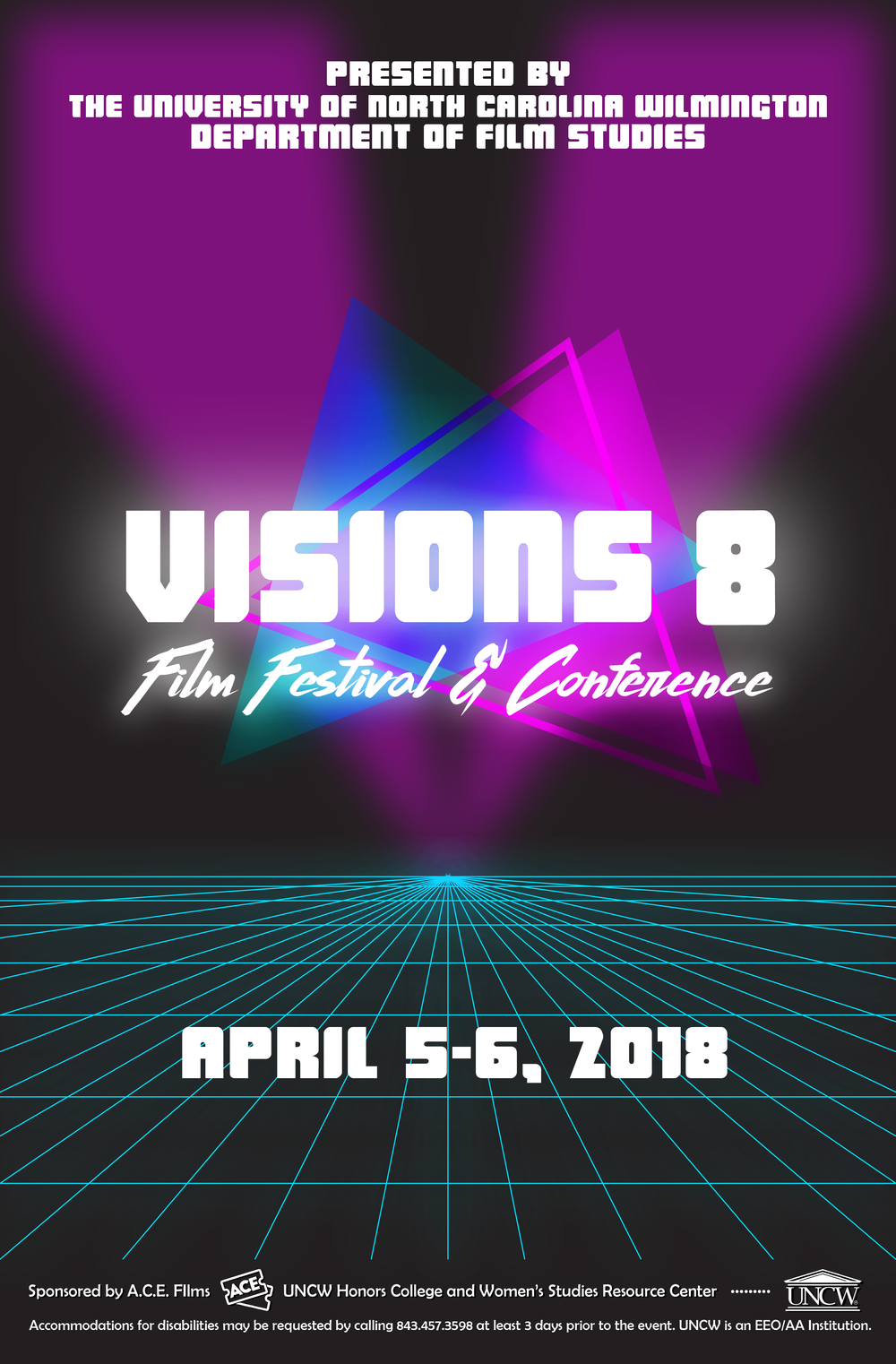 Visions 8 (2018)   Visions 8 Film Festival &Conference Takes on the theme of the 80's. Click here for 2018's list of Panelists, Films, Papers, all of the content from the festival