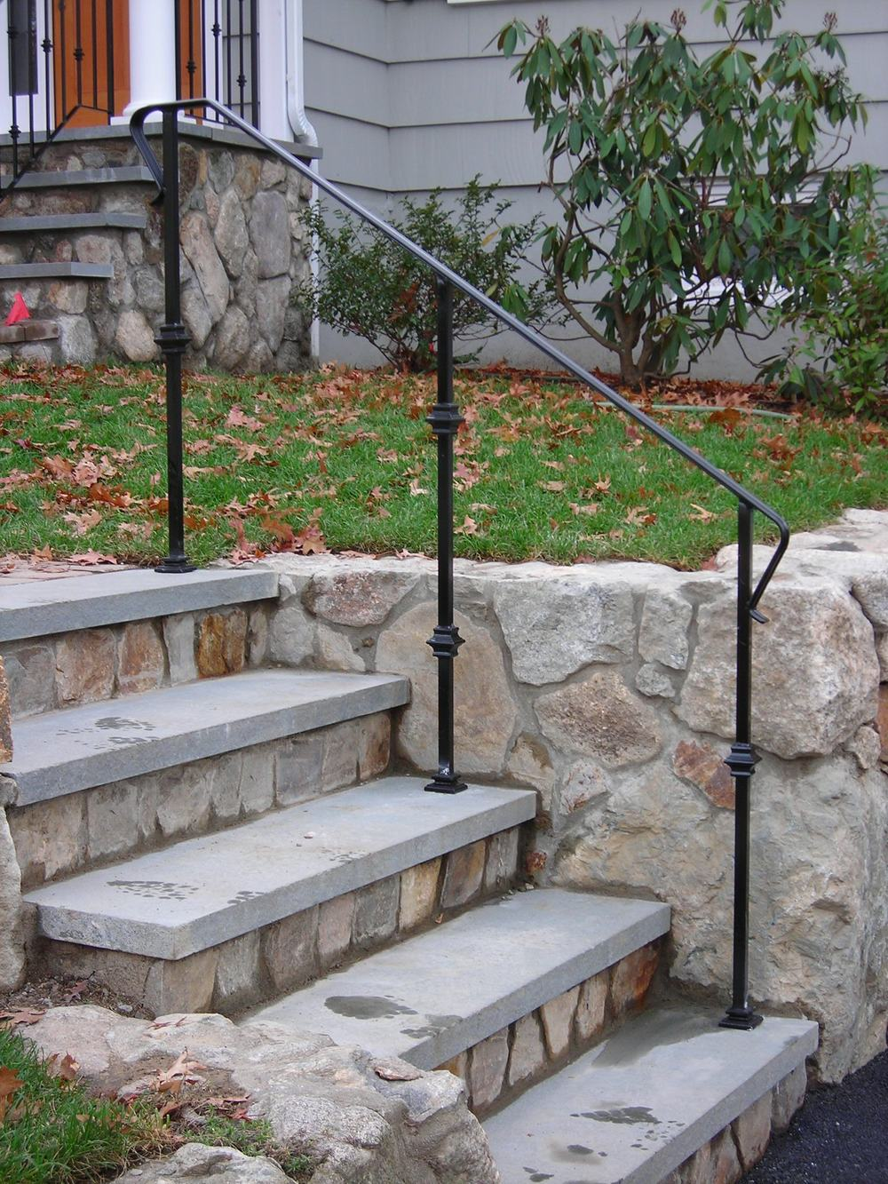 Picket-Less Railings with Baluster Collars & Cover Shoes
