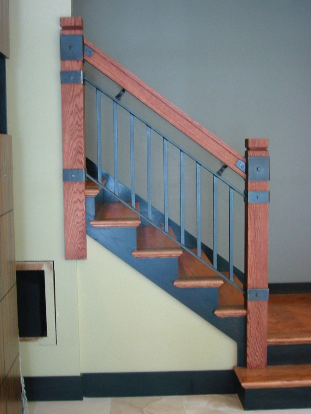 Attractive Custom Wood U0026 Steel Interior Railing