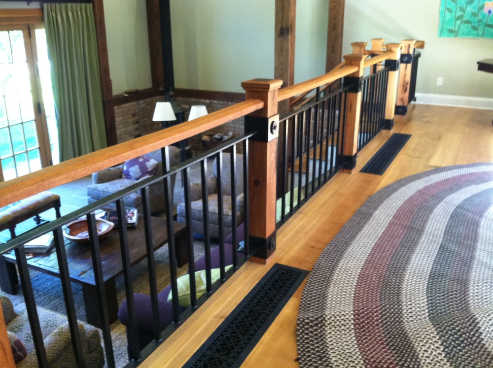 Interior Wood & Steel Railings with Forged Elements
