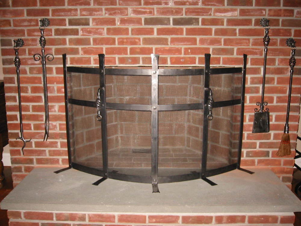 Free-Standing Firescreen and Custom Tools