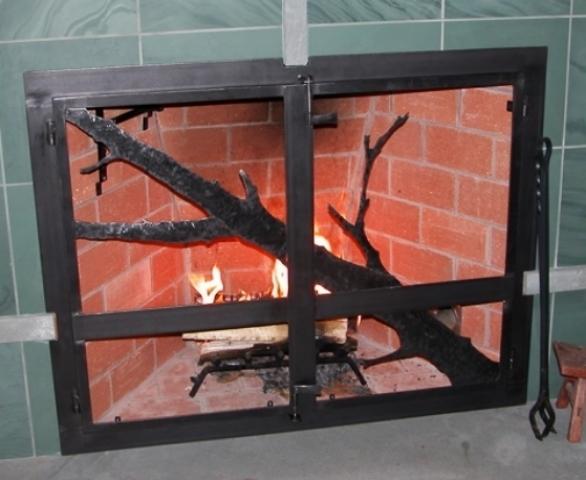 Branch Motif Firescreen
