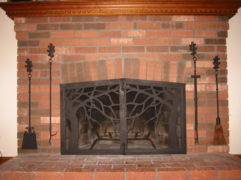 Tree Motif Firescreen with Custom Tools