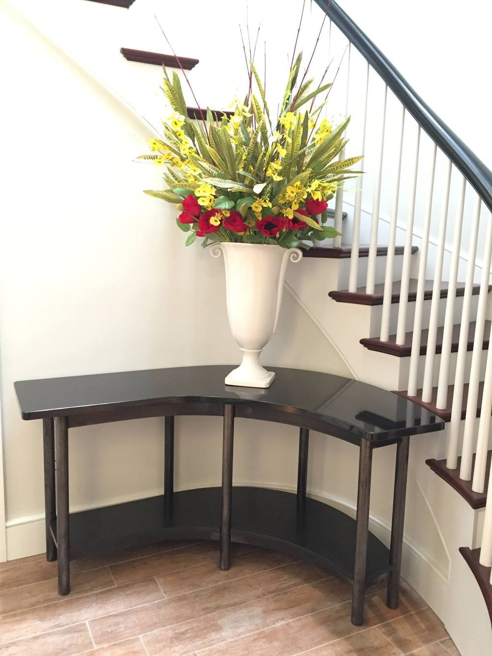 Custom Table with Wood & Granite Tops