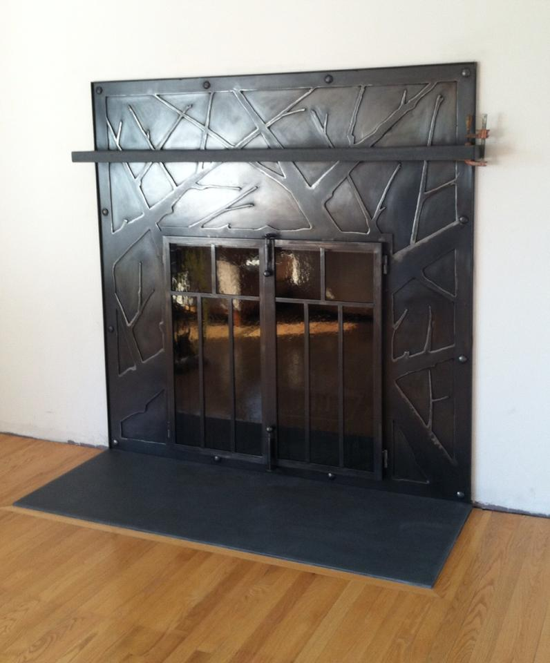 Large Tree-Branch Firescreen & Surround