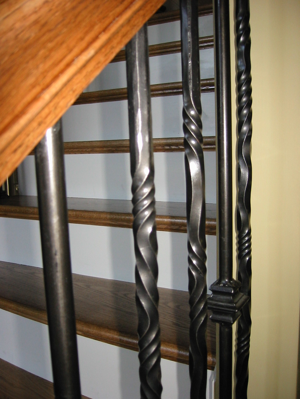Custom Interior Rail with Hand-Twisted Pickets (2)